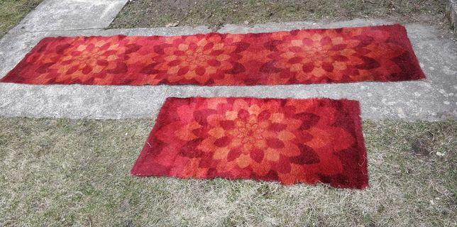 Duży czerwony dywan -2 szt długi i krótki. Dywany do korytarza/ pokoju