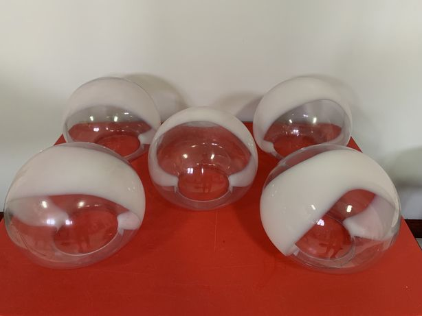 5 Globos de Vidro candeeiro de teto