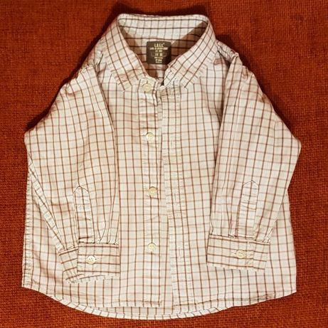Kremowa koszula w brązową kratkę Reserved L.O.G.G. 80