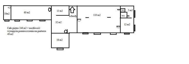 Wynajmę lokal 246m na piętrze. Rędziny ul. Wolności 187b