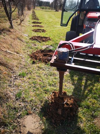 Wiercenie, kopanie otworów pod słupki ogrodzenie