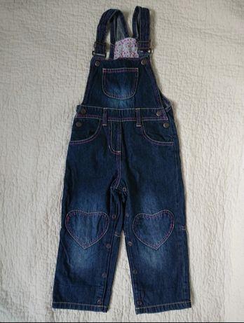 Spodnie na szelkach ogrodniczki jeansowe