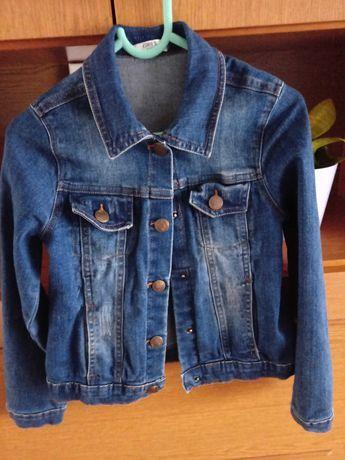 Kurtka jeansowa dziewczynka 128