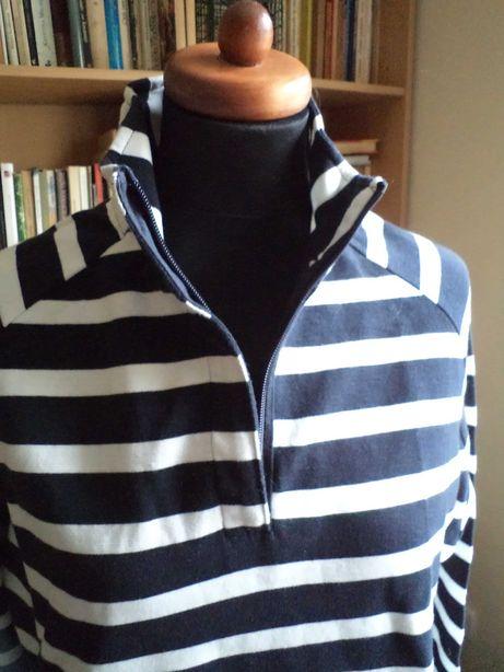 Bawełniana bluza r.XL w biało-granatowe pasy