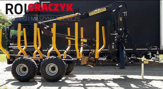 Nowa Przyczepa Leśna Wózek HDS More Maskiner 8t 6.8m Żuraw Leasing 8La