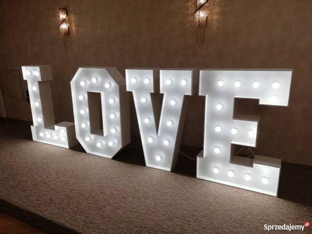 Duży napis LOVE wesele, eventy