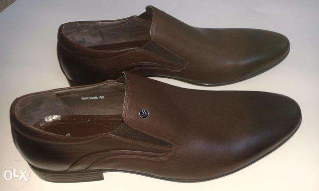 Продаются новые кожаные модельные мужские туфли