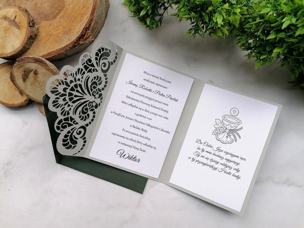 Zaproszenie zaproszenia na chrzest ślub komunia roczek
