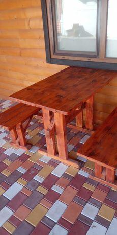 Продам комплекты из деревянных столов и лавочек