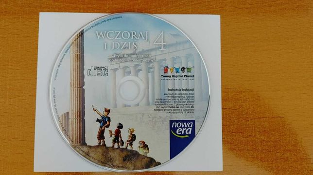 Płyta CD - Podręcznik do historii Wczoraj i dziś kl.4