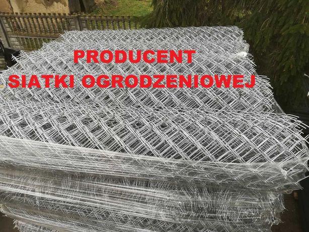 PRODUCENT - SIATKA ogrodzeniowa ocynkowana 150cm/3mm/65mmx65mm, słupki