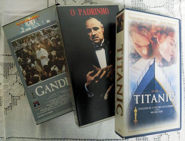Conjunto 3 grandes filmes originais em VHS
