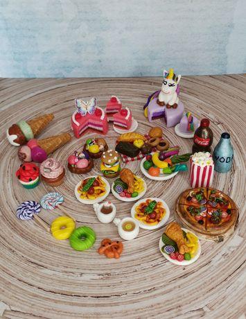 Miniatury, jedzenie, Barbie, dollhouse, domek dla lalek, gadżety, tort