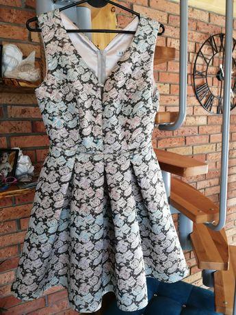 Sukienka M 38 kwiaty