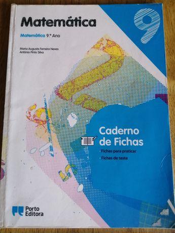 Caderno de fichas Matemática 9 Porto Editora
