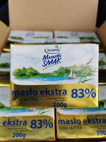 Масло сливочное/вершкове экстра 83% Mazurski Smak 200г. Mlekpol.