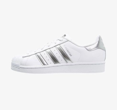 Buty adidas Originals Superstar biale srebrne szare 39