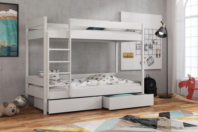 Łóżko piętrowe podwójne dla dzieci ZOSIA z materacami gratis!