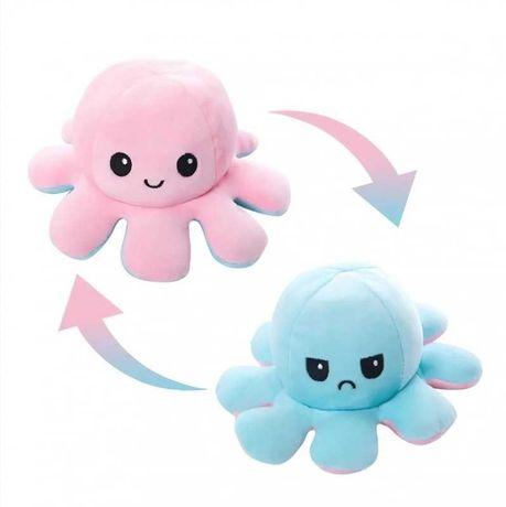 Мягкая игрушка осьминог перевертыш, двусторонний