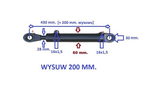 cylinder hydrauliczny wspomagania kierownicy do BIZONA 200 mm.