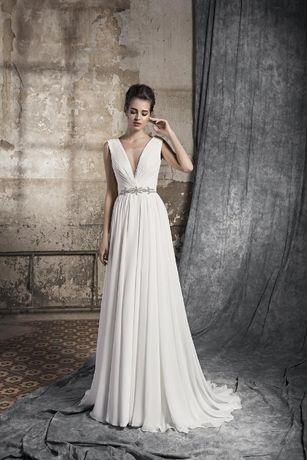 suknia ślubna w kształcie litery A- MAXIMA 0417 r. 34/36 styl grecki