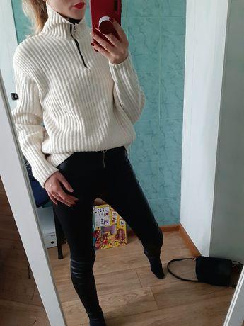 Плотный шерстяной свитер поло оверсайз Италия