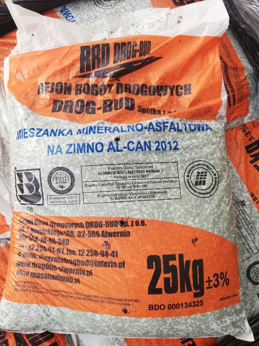Mieszanka mineralno-asfaltowa, asfalt na zimno, masa bitumiczna 25 kg