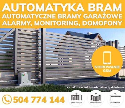 AUTOMATY DO BRAM ze sterowaniem GSM   Bramy garażowe   Napędy Domofony