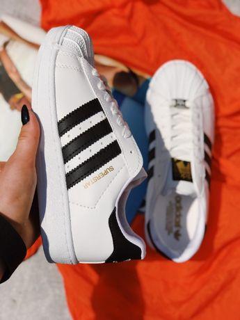 Кроссовки белые Adidas Superstar White Адидас Суперстар