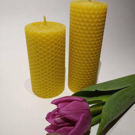Свічки із бджолиного воску, із вощини, свічки ручної роботи, свечи