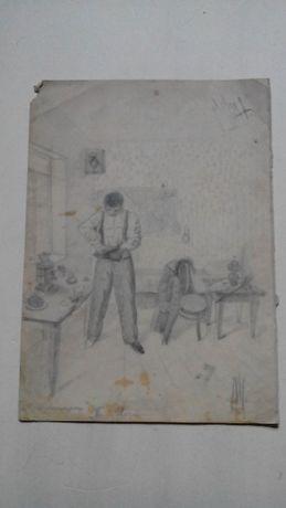 Старая Графика 1903г. Перед вечером