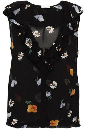 GANNI floral-print top Original