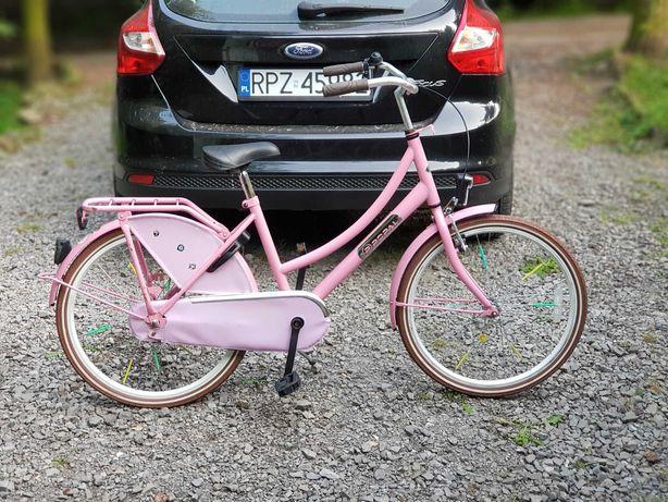 Różowy Rowerek dla Dziewczynki Holenderski POPAL