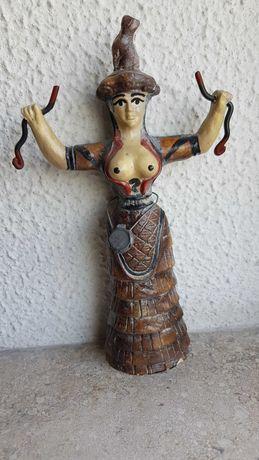 Deusa Indiana com selo de garantia, para decoração