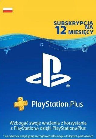 PlaySptation Plus Card 365 12mc KLUCZ KOD ZDRAPKA