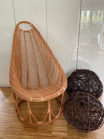 Fotel z wikliny/wiklinowy nowy
