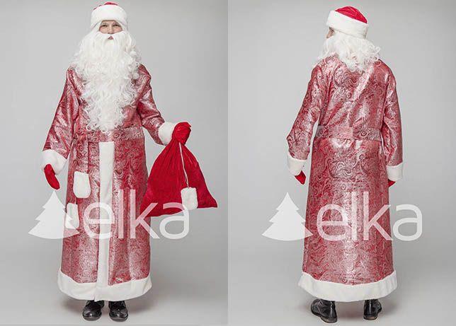 Карнавальный костюм деда мороза парчовый святой николай
