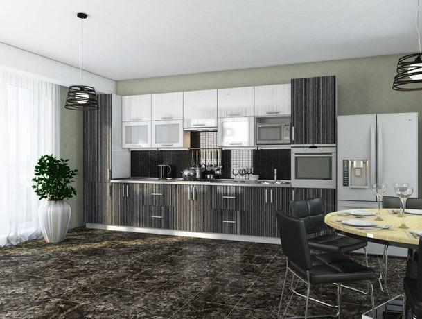 Кухни модульные с крашеными глянцевыми матовыми фасадами МДФ