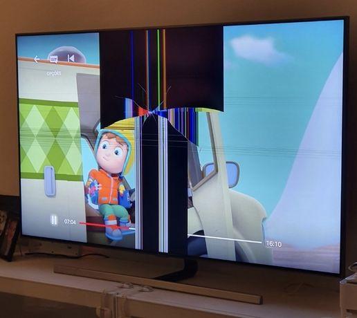 """Televisão samsung 55"""" ecrã avariado"""