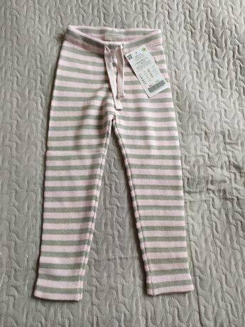Grubsze spodnie legginsy Coccodrillo sweterkowe r.98