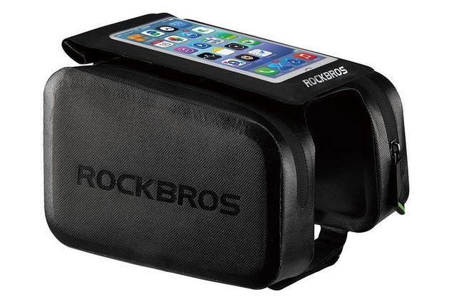 Torba RockBros telefon 6.0 dotyk wodoodporna 250g czerń