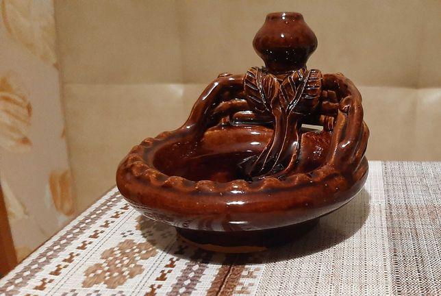 пепельница- украинский сувенир глазированная керамика