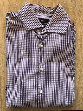 Koszula w kratę Hugo Boss