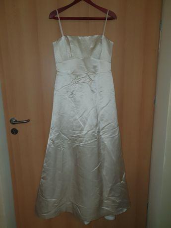 Suknia, sukienka ślubna rozmiar 40 perłowa