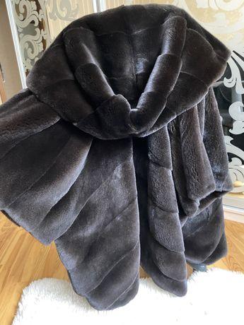08.08 Киев! Норковая шуба Marco Varni, blackglama, 85 см, кимоно 48-60