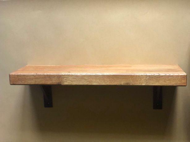 Solidna półka ścienna dębowa
