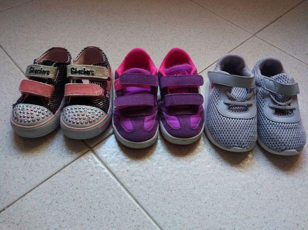 5 pares ténis de várias marcas(Nike,Adidas, Rockland)