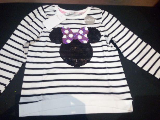 Mickey minnie z cekinami H and M nowa bluza
