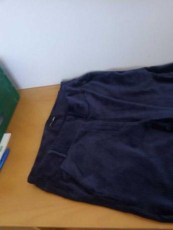 Calça de Veludo Azul escuro