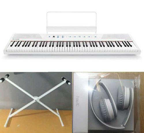 Alesis Recital и СТЕНД! Белое цифровое пианино фортепиано 88 клавиш